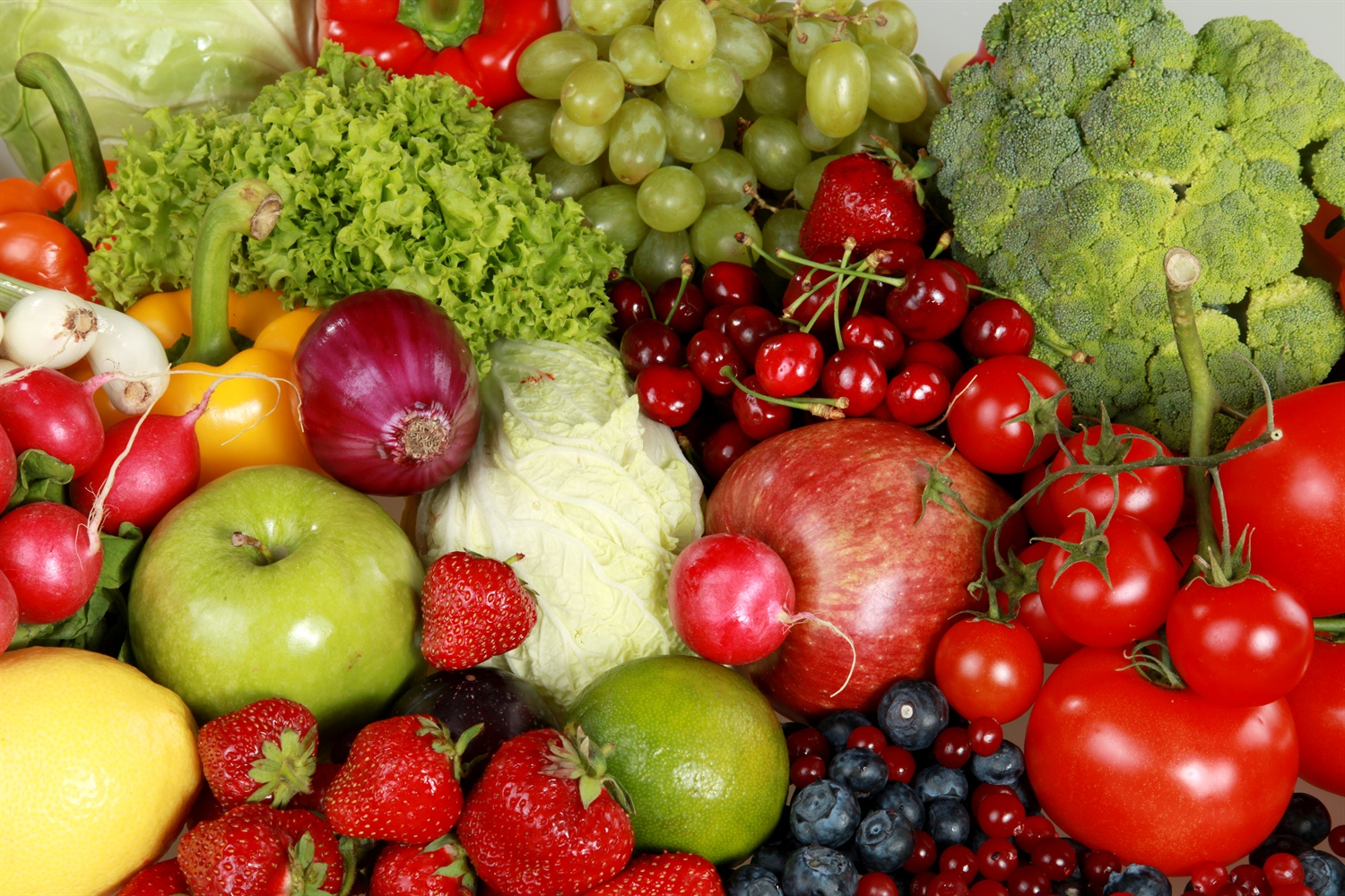 An assortment of colorful vegetables based on a DNA nutrition plan